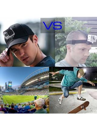 Кепка, бейсболка с креплением на голову для экшн камер GoPro, Xiaomi, SJCAM, Sony