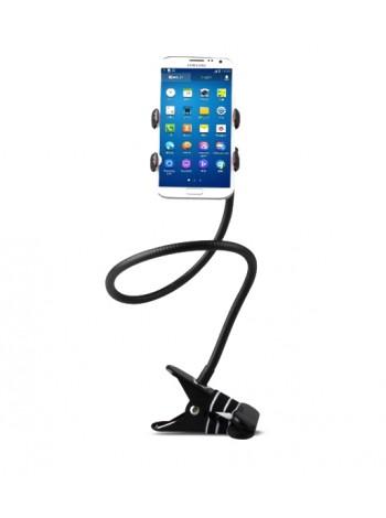 Гибкий держатель для телефона на прищепке 2.0 (металлический)
