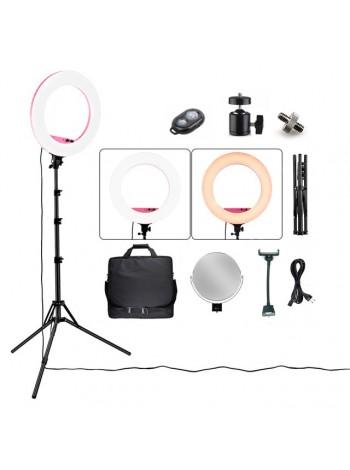 Кольцевая лампа SLP-R580 (48см, 100Вт) с держателем телефона и камеры