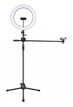 Штатив с выносной стойкой и кольцевой лампой 36 см