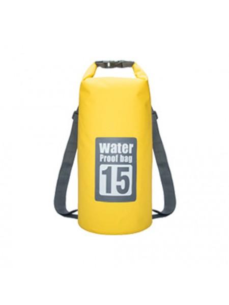 Водонепроницаемый рюкзак гермомешок WATERPROOF BAG 15L (15 литров)