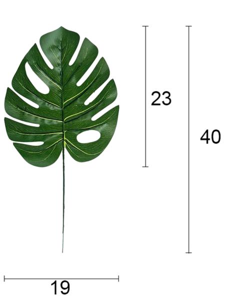 Лист монстеры 40 см