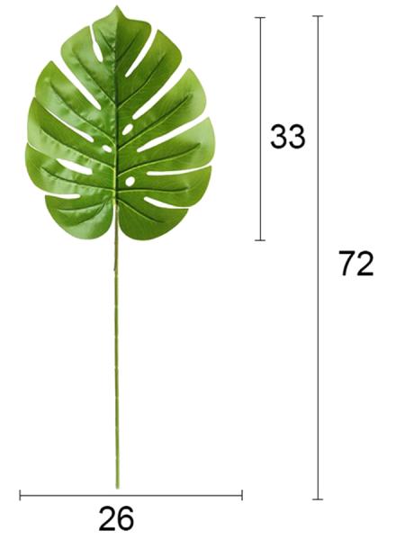 Лист монстеры 72 см