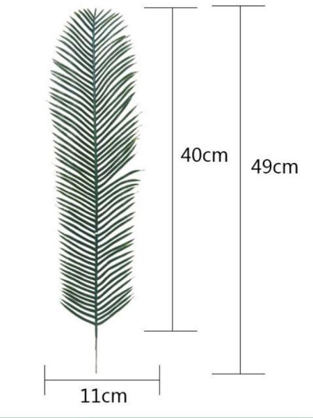 Лист пальмы 49 см