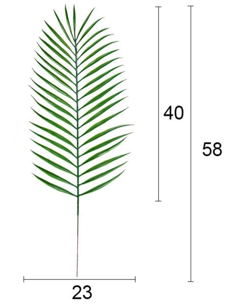 Лист пальмы 58 см