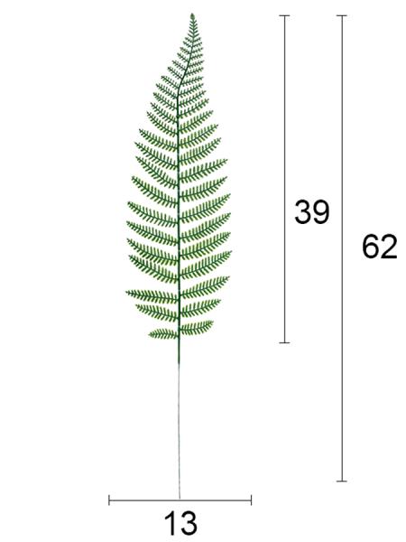 Лист папоротника 62 см