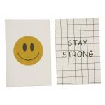 """Открытка 10х15см (смайлик + надпись """"Stay strong"""")"""