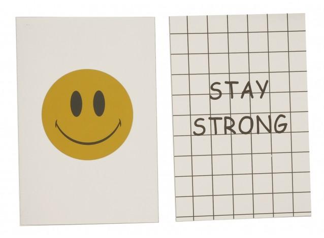 """Открытка для флетлей 10х15см (смайлик + надпись """"Stay strong"""")"""