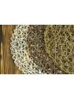Круглый плетеный коврик 38см
