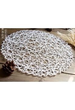 Плетеный коврик 38см