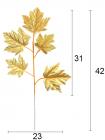 Ветка виноградных листьев 42 см