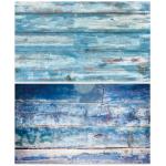 Двусторонний фотофон 57*87 см. Голубые состаренные доски + синие доски