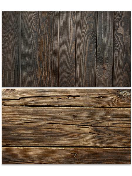 Двусторонний фотофон 57*87 см. Обожженные деревянные рейки + обожженные деревянные доски
