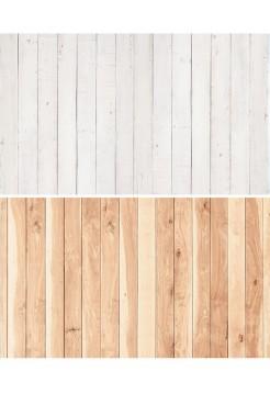 Фотофон белые рейки + рейки натурального дерева