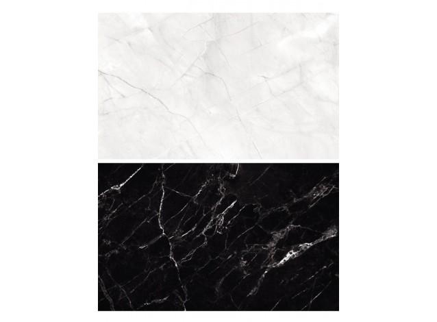 Двусторонний виниловый фотофон 57*87см (300г/м² ) черный мрамор + белый мрамор