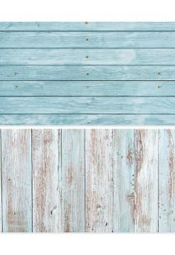Фотофон голубые рейки + бело-бирюзовые старые доски