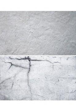 Фотофон серая побеленная стена + стена с трещинами