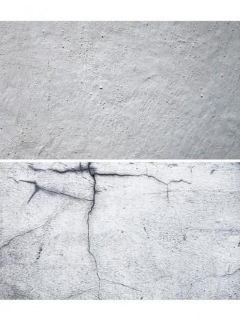Двусторонний виниловый фотофон 57*87см (300г/м² ) серая побеленная стена + стена с трещинами
