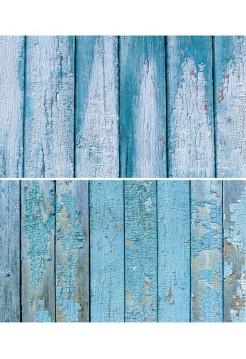 Фотофон синие старые доски с облупленной краской
