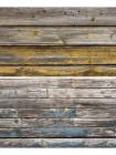 Двусторонний виниловый фотофон 57*87см (300г/м² ) старые доски с оранжевой краской + старые рейки с синей краской