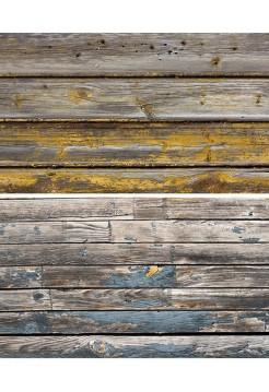 Фотофон старые доски с оранжевой краской + старые рейки с синей краской
