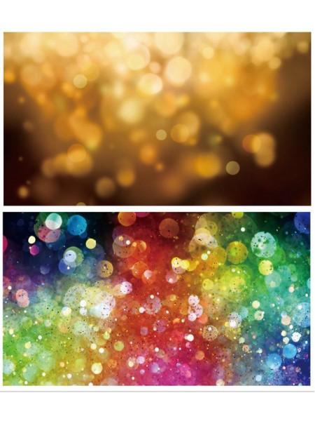 Двусторонний фотофон 57*87 см. Расфокусированные огни оранжевые + расфокусированные огни разноцветные