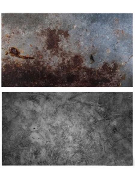 Двусторонний фотофон 57*87 см. Серый бетон + камень с разводами