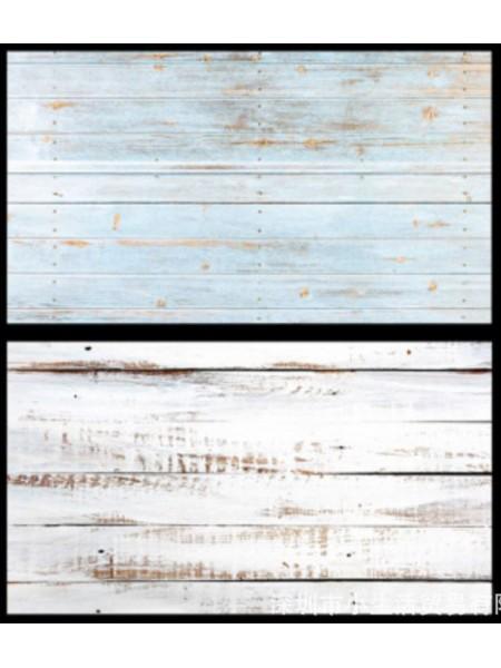 Двусторонний фотофон 57*87 см. Состаренные голубые рейки + белые доски