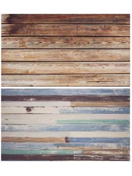 Двусторонний фотофон 57*87 см. Деревянные доски + разноцветные покрашенные доски