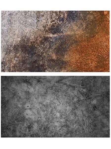Двусторонний фотофон 57*87 см. Серый бетон + яркая ржавчина