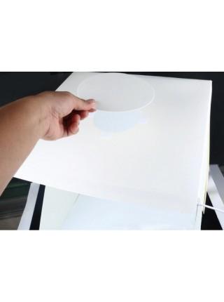 Фотобокс с подсветкой, 30 см, 2 фона (лайтбокс, фотокуб, lightbox, лайткуб, портативная мини фотостудия)