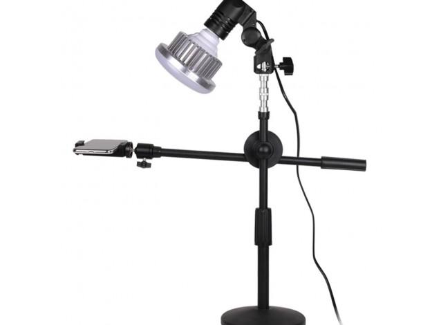 Штатив настольный FF-12 для съемки сверху с лампой 65 Вт (для творчества, flatlay, маникюра)