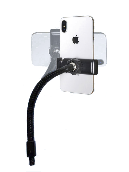 Держатель телефона на гибкой ножке с резьбой 1/4 дюйма для кольцевых ламп