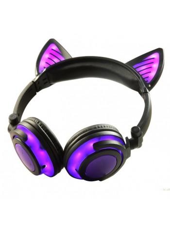 Беспроводные кошачьи наушники (светятся наушники и ушки) bluetooth