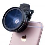 Универсальный объектив линза 2в1 0.45X 37мм широкоугольный + макро (для телефона, экшн-камер, GoPro, Xiaomi)