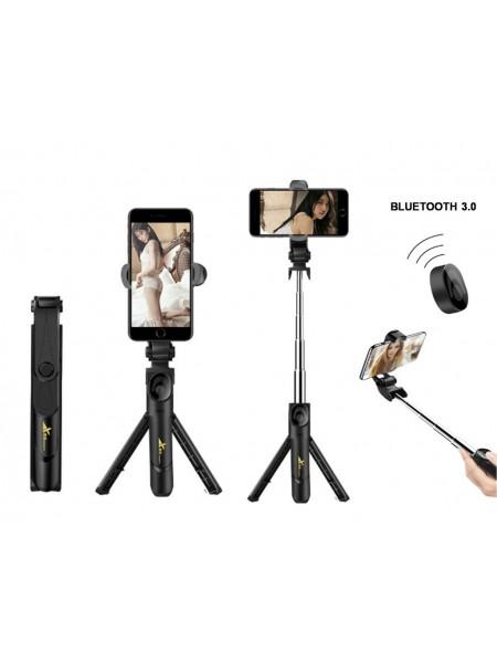 Монопод для телефона XT09 с треногой и bluetooth пультом