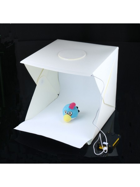 Фотобокс с подсветкой, 40 см, 2 фона (лайтбокс, фотокуб, lightbox, портативная мини фотостудия, лайткуб)