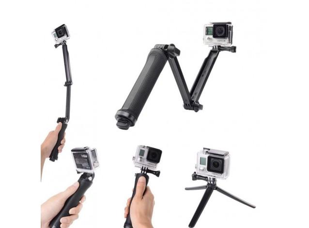 Монопод для экш камер GoPro 3-Way Mount (гопро, Xiaomi, SJCam, телефона)