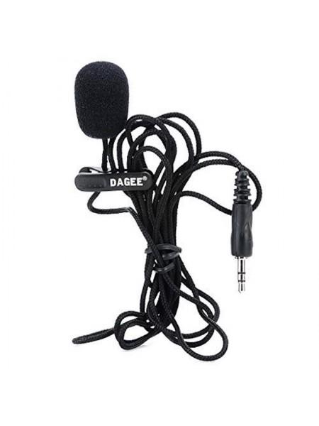 Петличный микрофон Dagee DG-001 MIC для диктофона, компьютера, камеры, телефона