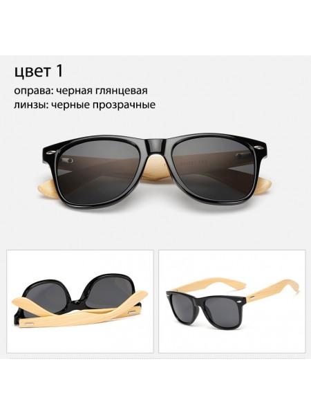 Солнцезащитные очки WAYFARER 1 (Вайфареры) с деревянными дужками