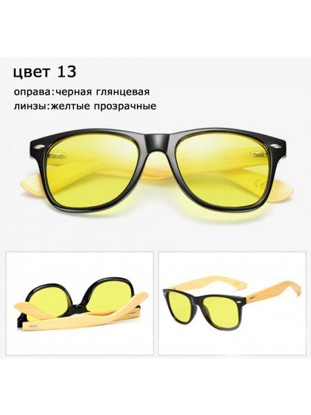 Солнцезащитные очки WAYFARER 13 (Вайфареры) с деревянными дужками