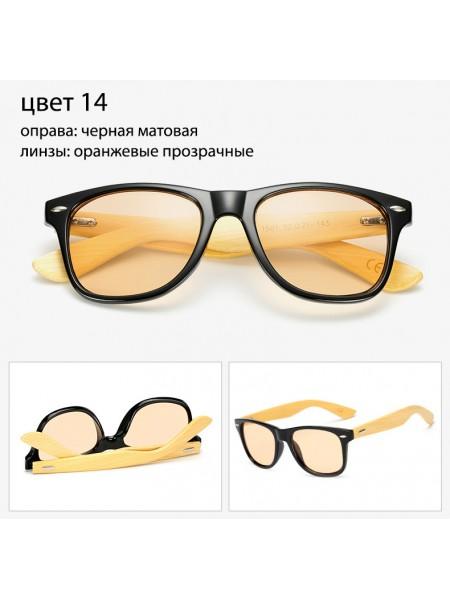 Солнцезащитные очки WAYFARER 14 (Вайфареры) с деревянными дужками