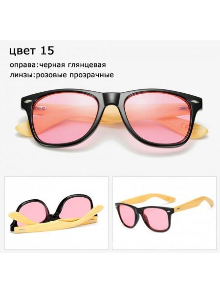 Солнцезащитные очки WAYFARER 15 (Вайфареры) с деревянными дужками