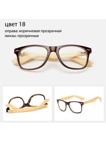 Солнцезащитные очки WAYFARER 18 (Вайфареры) с деревянными дужками