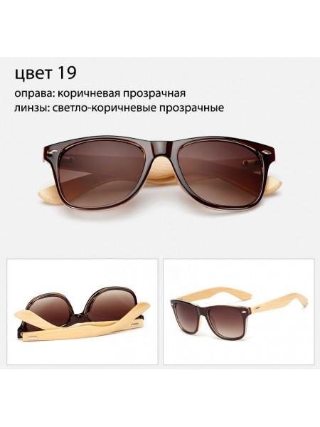 Солнцезащитные очки WAYFARER 19 (Вайфареры) с деревянными дужками