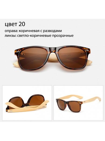 Солнцезащитные очки WAYFARER 20 (Вайфареры) с деревянными дужками