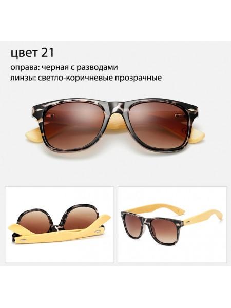 Солнцезащитные очки WAYFARER 21 (Вайфареры) с деревянными дужками