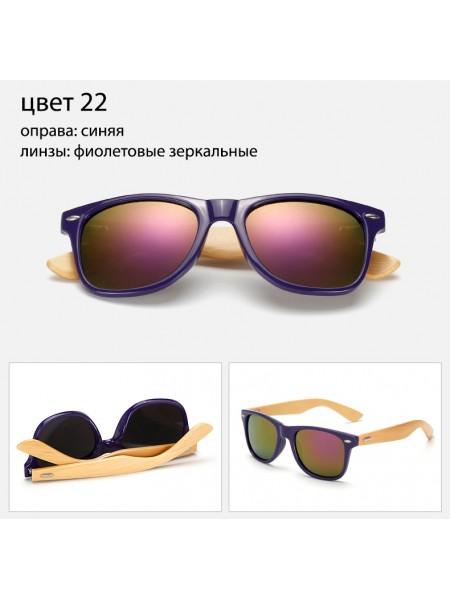 Солнцезащитные очки WAYFARER 22 (Вайфареры) с деревянными дужками