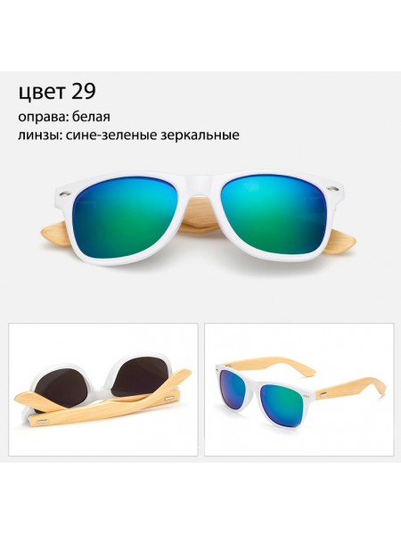 Солнцезащитные очки WAYFARER 29 (Вайфареры) с деревянными дужками