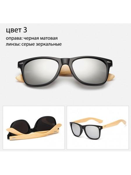 Солнцезащитные очки WAYFARER 3 (Вайфареры) с деревянными дужками